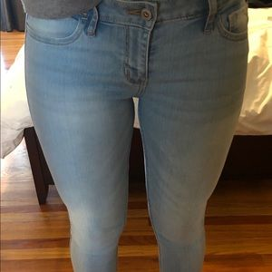 Light Wash Hollister Super Skinny Jeans